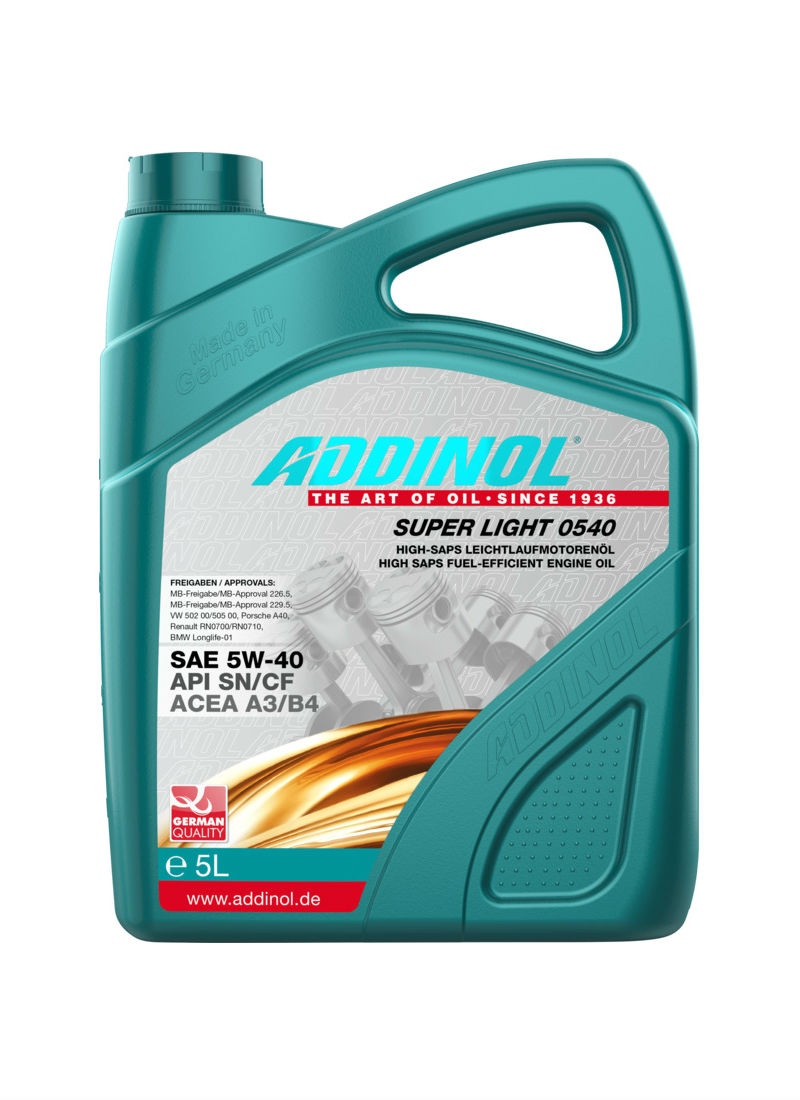 Addinol Super Light 0540 SAE 5W-40 (5 літрів)